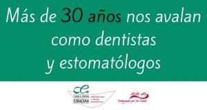 Más de 30 años nos avalan como dentistasy estomatólogos